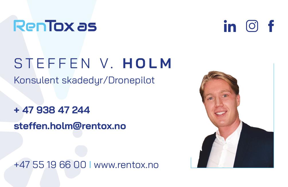 Steffen V. Holm. Konsulent skadedyr / Dronepilot.